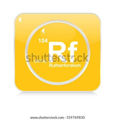 rutherfordium chemical element button - stock vector