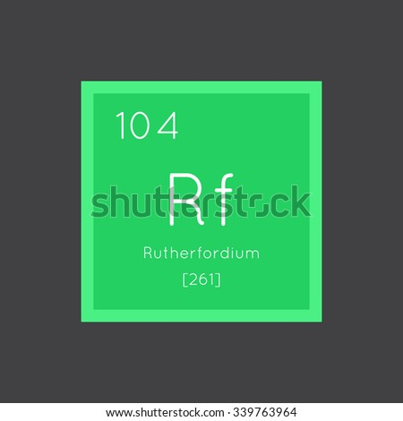 Rutherfordium simple style tile icon. Chemical element of periodic table. Vector illustration EPS8