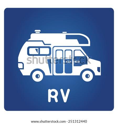 RV - stock vector