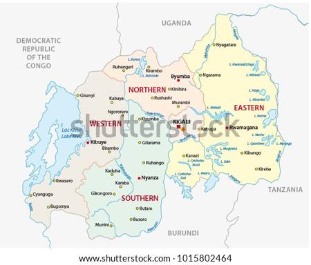 Rwanda Region Map Stock Images RoyaltyFree Images Vectors