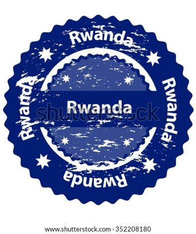 Rwanda Country Grunge Stamp - stock vector
