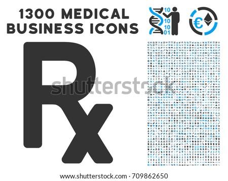 Rx Symbol Grey Vector Icon 1300 Stock Vector 709862650 Shutterstock