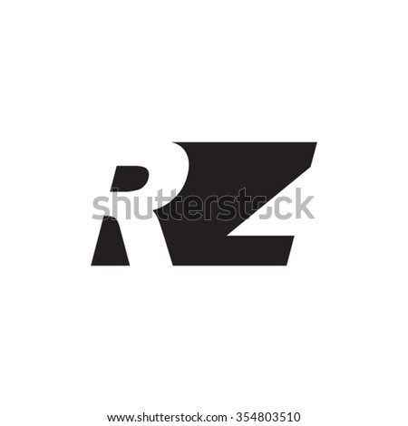 RZ negative space letter logo