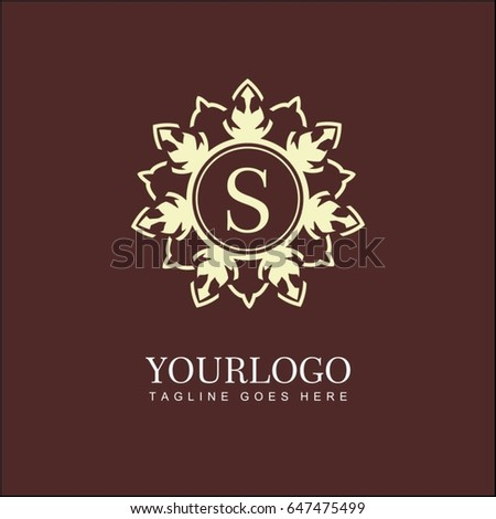 S Letter Floral Logo Brand Identity For Cafe Shop Store Restaurant