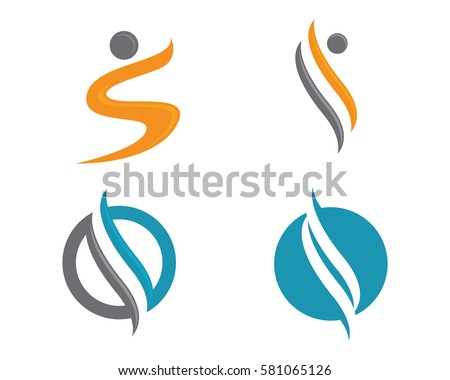 S letter human character logo sign stock vector 581065126 shutterstock s letter human character logo sign thecheapjerseys Choice Image