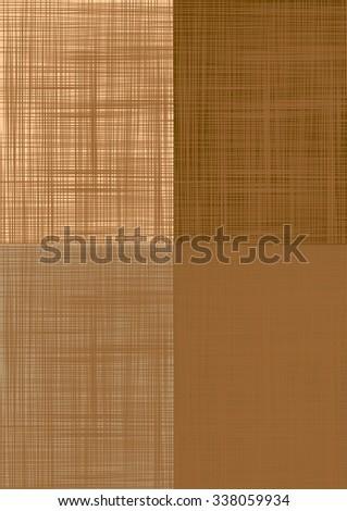 Sacking. Set brown vector backgrounds imitating fabric. - stock vector