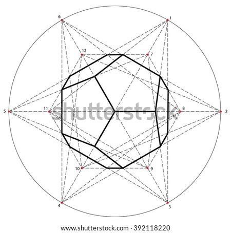Sacred geometry. Alchemy, religion, philosophy, spirituality, hipster symbols and elements . EPS-10 - stock vector