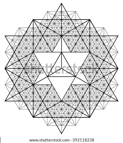 Sacred geometry. Alchemy, religion, philosophy, spirituality, hipster symbols and elements . EPS-10