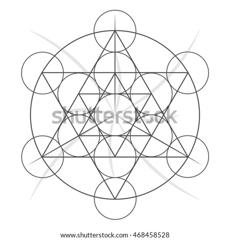 sacred geometry classic symbol. Stock vector illustration