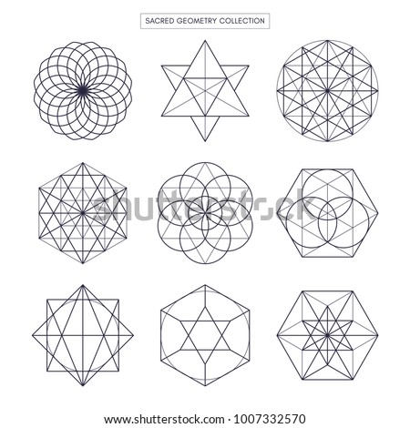 geometry outline Download this sacred geometry outline shapes vector set vector illustration  now and search more of istock's library of royalty-free vector art.