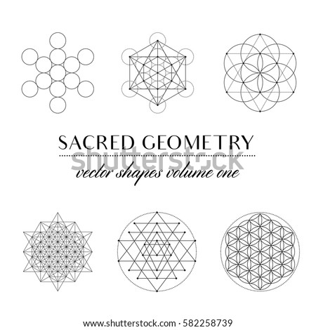 Sacred Geometry Volume One   Set Of Sacred Geometry Art. Geometric Vector  Art