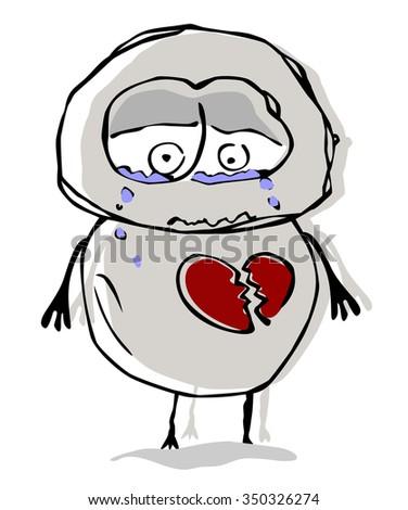 Sad man. - stock vector