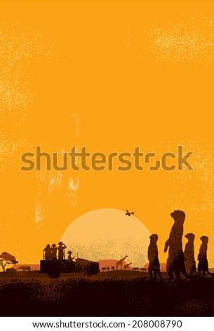 Safari Adventure Poster - stock vector