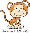 Safari Monkey Vector Illustration - stock vector