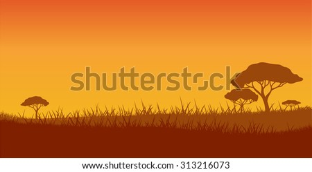 safari, vector background