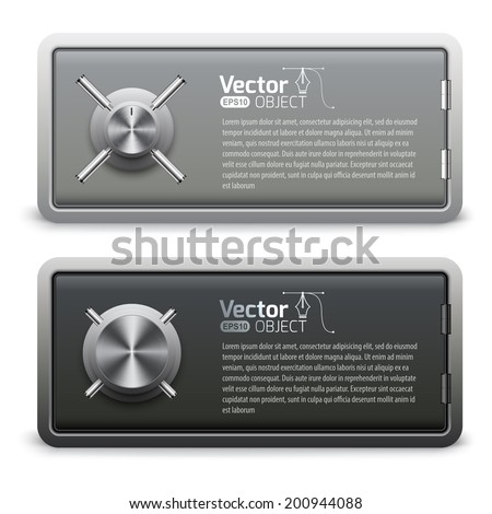 safe and deposit vector set  - stock vector