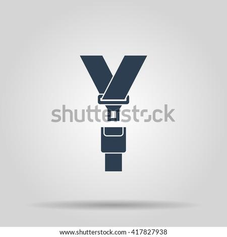 safe belt. Modern design flat style EPS - stock vector