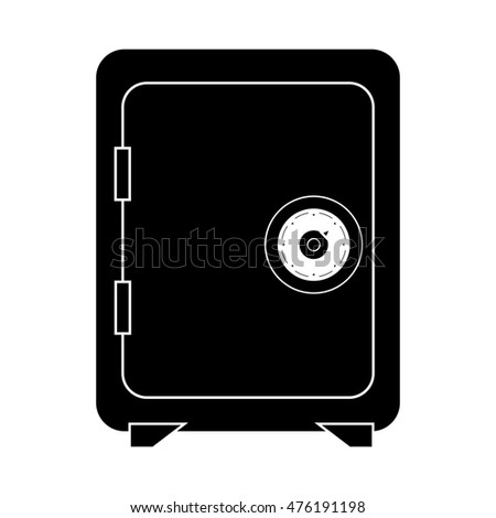 safe box security lock code front safety metal vector illustration isolated