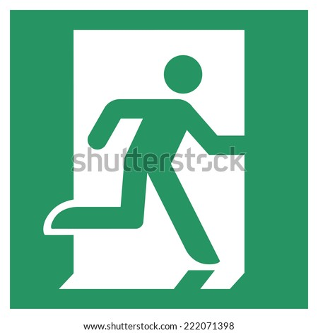 Safe condition sign,Emergency exit - stock vector