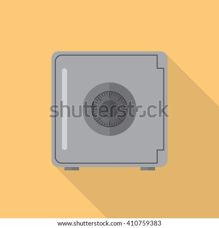 Safe flat icon with long shadow