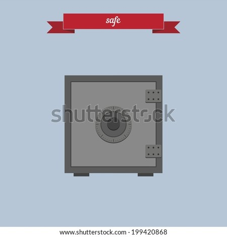 Safe. Flat style design - vector - stock vector