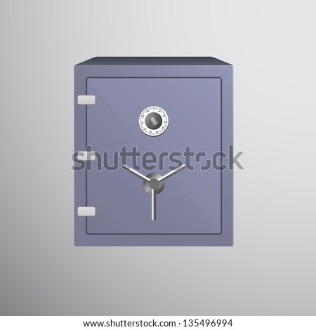 Safe icon isolated on dark background, vector illustration