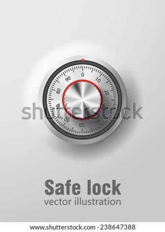 safe lock - stock vector