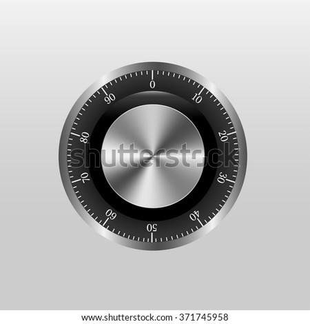 Safe Lock With Gradient Mesh, Vector Illustration - stock vector