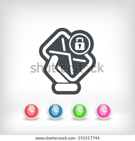 Safe mail - stock vector