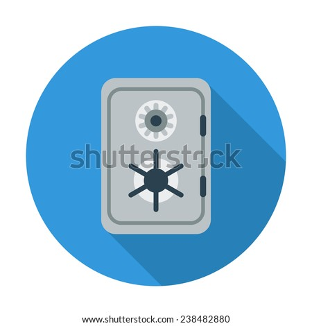 Safe. Single flat color icon. Vector illustration. - stock vector