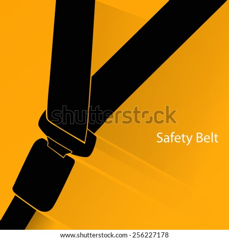 Safety belt concept - stock vector