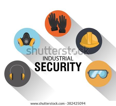 safety equipment design  - stock vector
