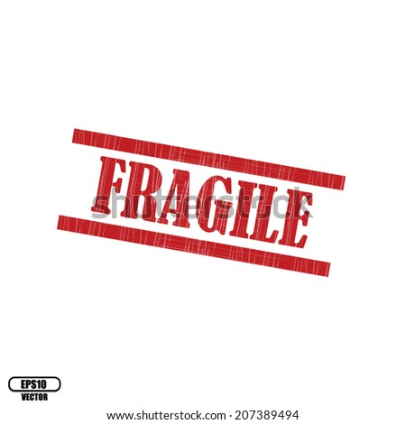 Safety, fragile rubber stamp on white background, Eps.10 - vector illustration.