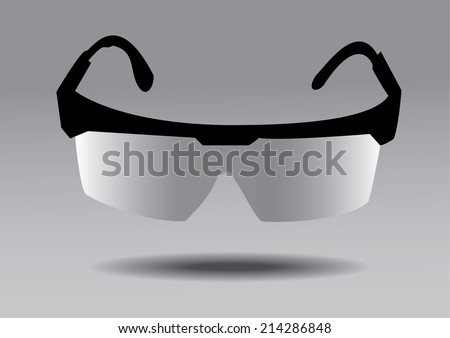 Safety glasses - stock vector