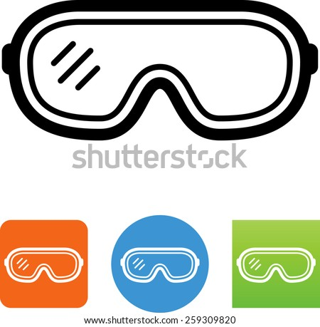 Safety Goggles Symbol Label LABELSYM26c PPE  Eye