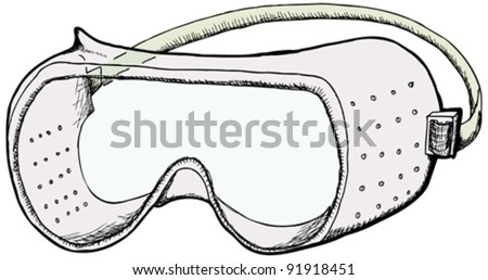 Safety Goggles Vector Safety Goggles With