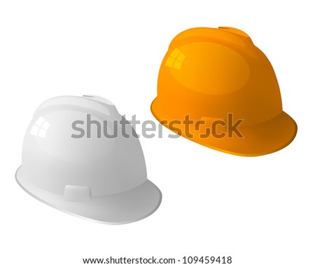 Safety hat isolated on white. - stock vector