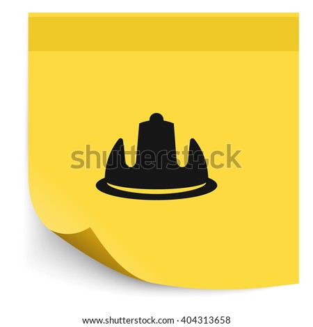 Safety helmet flat icon. - stock vector