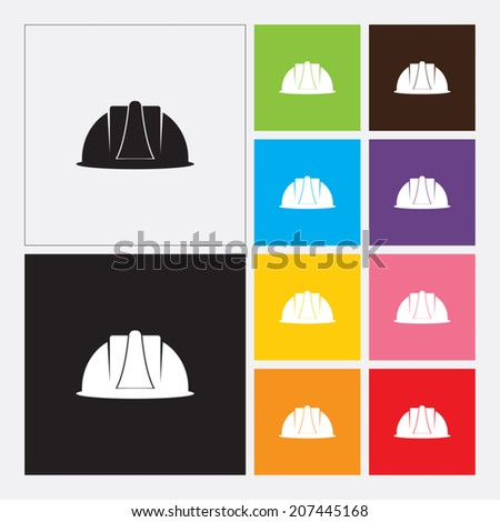 Safety helmet icon - Vector - stock vector