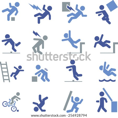 Safety, insurance and consequences of failure.  - stock vector