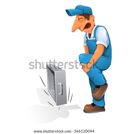 Safety Manual Workers Work Bench Grinders Stock Vector