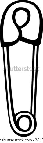 safety pin - stock vector