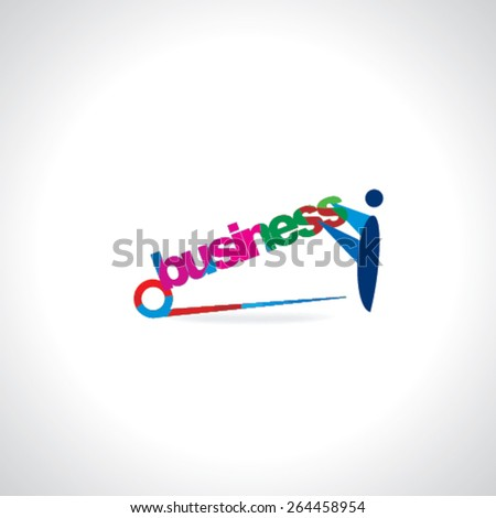 safety pin connect with business concept  - stock vector