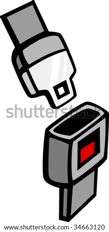 safety seat belt - stock vector