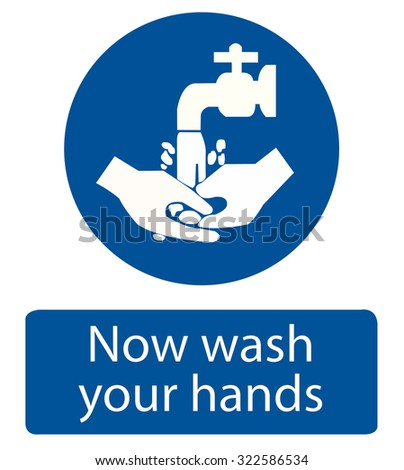 Safety sign, wash your hands - stock vector
