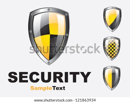 Safety symbol over white  background vector illustration - stock vector