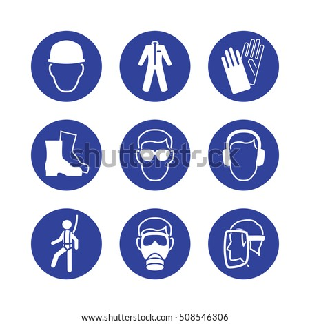 Safety Symbols Work in a ventilated area when harm