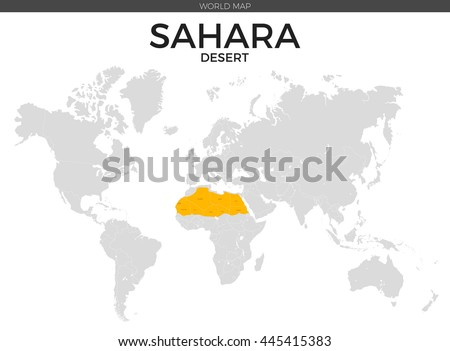 Sahara desert location modern detailed vector stock vector sahara desert location modern detailed vector map all world countries without names vector template gumiabroncs
