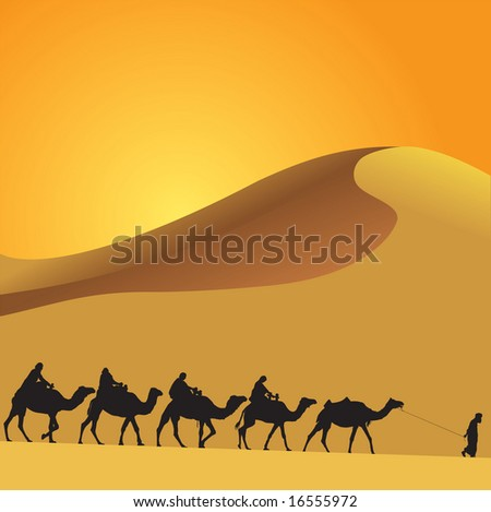 Sahara lifestyle 3 - stock vector