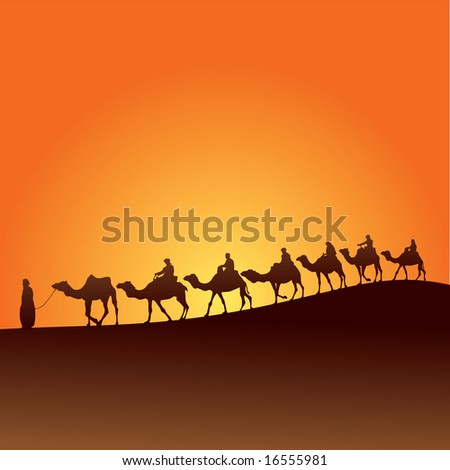 Sahara lifestyle 6 - stock vector